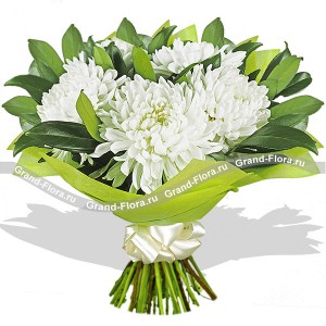 Clear Sky - bouquet of chrysanthemums